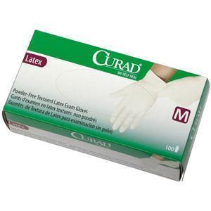 Medline® Industries Curad® 3G Nonsterile Powder-free Textured Latex Exam Glove, Medium, Secure Grip, Comfort and Strength