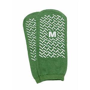 Medline Single-Tread Slippers Medium, Green, Single-Tread