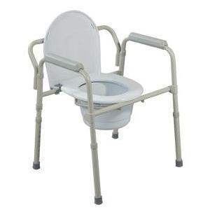 Drive Medical Knock Down Deluxe Steel Drop-arm Commode 23