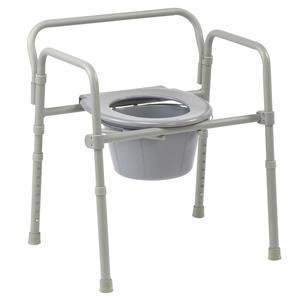 Competitive Edge 3-in-1 Folding Commode, 350lb Capacity