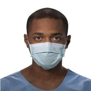 Kimberly Clark Prof Non-sterile Procedure Mask with Earloops, Blue, Latex-free, Pleat-style