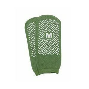 Single Tread Patient Safety Footwear XXL, Green, Exterior Terrycloth