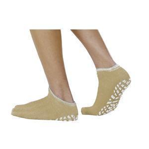 Single Tread Patient Safety Footwear Large, Tan, Interior Terrycloth