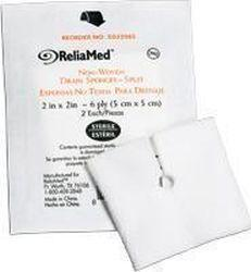 ReliaMed Sterile Tracheostomy Split Gauze Sponge 2
