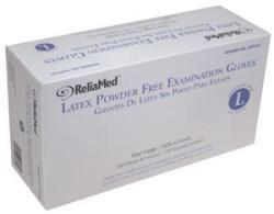 ReliaMed Non-Sterile Powder-Free Latex Examination Glove Large - Item #: ZGPFLLGEA