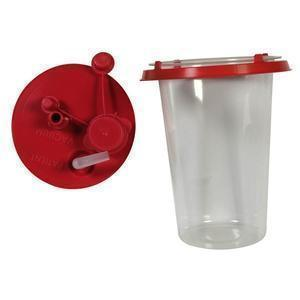 Suction Canister Liner With Lid, 1000 Cc