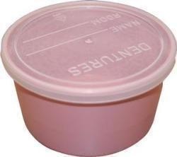 Denture Cup With Lid 8 Oz., Dusty Rose - Item #: