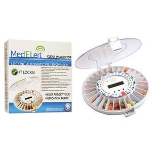 Mededispenser MedELert Automatic Pill Dispenser, with Lock for Seniors, 1.85