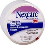 "Product Photo: 3M Nexcare™ Transpore™ First Aid Porous Tape 10 yd x 1"" Clear, Plastic"