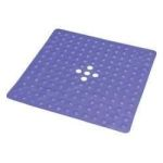 "Product Photo: Deluxe Shower Mat with Drain, Large 21"" x 21"", Blue - Item #: ESB3417B"