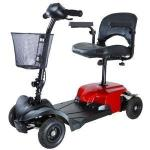 "Product Photo: Drive Bobcat X4 4-Wheel Transportable Scooter, 16.5"" Folding Seat, 265 lb Capacity, Red"