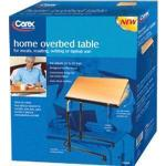 Product Photo: Carex® Home Overbed Table, Adjustable, Stylish